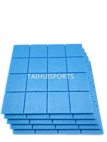 Two Sides Grooved Water Proof PE Foam Light Weight Baseball Football Artificial Grass Underlay High Density 70 Kg/M3
