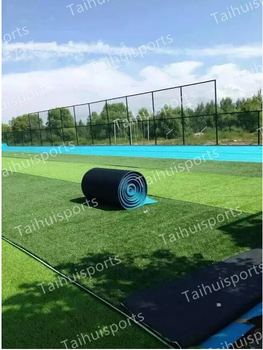4000 Mm/H Water Drainage Crosslinked 8-20 mm Synthetic Grass Underlay For Soccer Rugby Hockey Playground Field