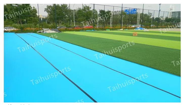 Double-Sided Grooved Football Rugby Hockey Baseball Pitch Synthetic Grass Underlay Shock Pad Flame Retardant Outdoor