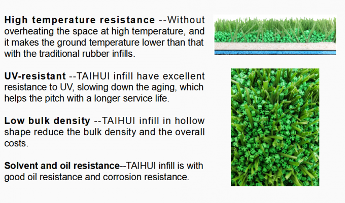Eco Friendly Commercial Artificial Turf Infill Provide Safety UV Resistant For Sports Quality Low Bulk Density 3