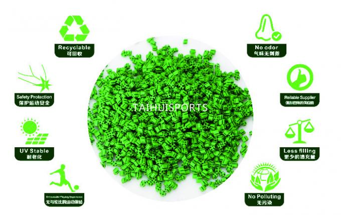 Eco Friendly Commercial Artificial Turf Infill Provide Safety UV Resistant For Sports Quality Low Bulk Density 11