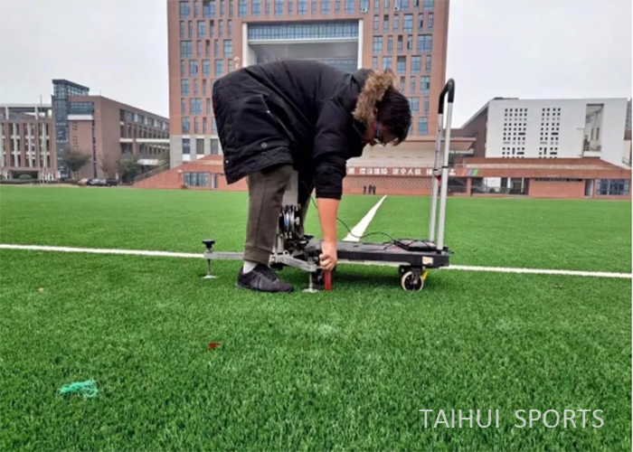 Taihui Sports has completed another FIFA certificated venue |Changzhou Tianjiabing Senior school(图7)