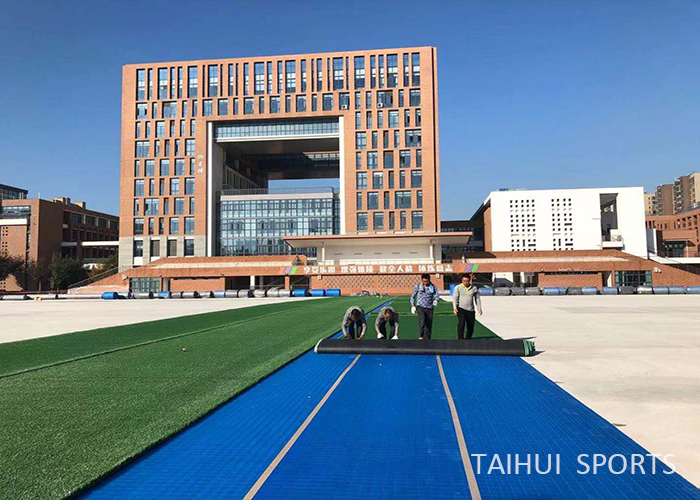 Taihui Sports has completed another FIFA certificated venue |Changzhou Tianjiabing Senior school(图4)
